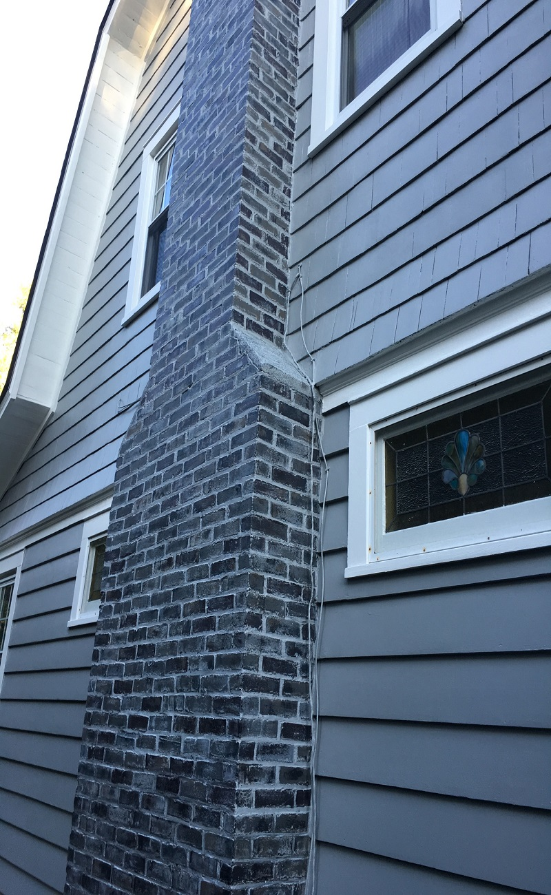 Chimney in Madison - Reprinted and Painted by Gikas Painting & Contracting