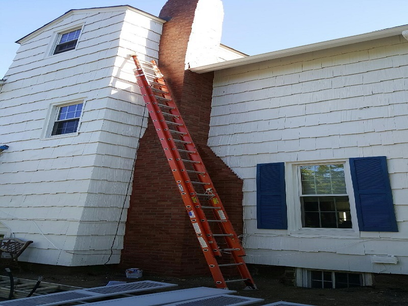 Chimney restoration by Gikas Painting & Contracting