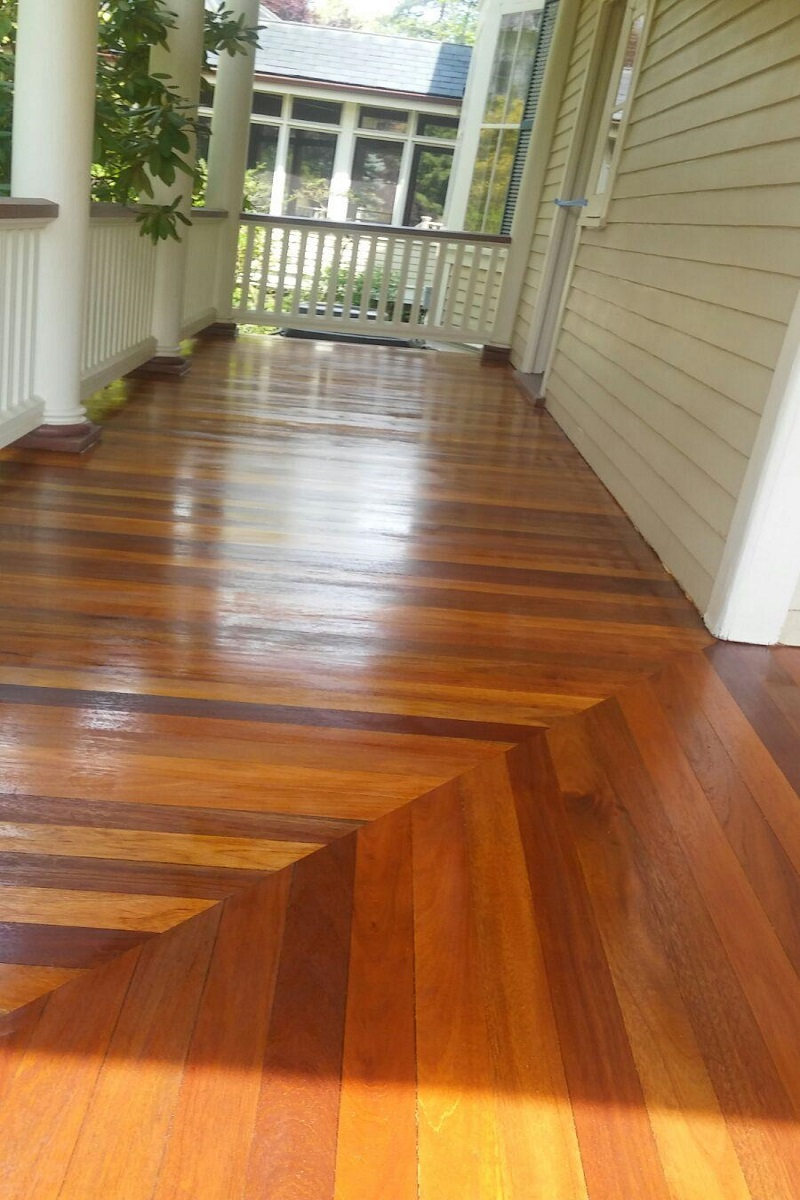 Porch Floor Refinished in Ridgewood by Gikas Painting & Contracting