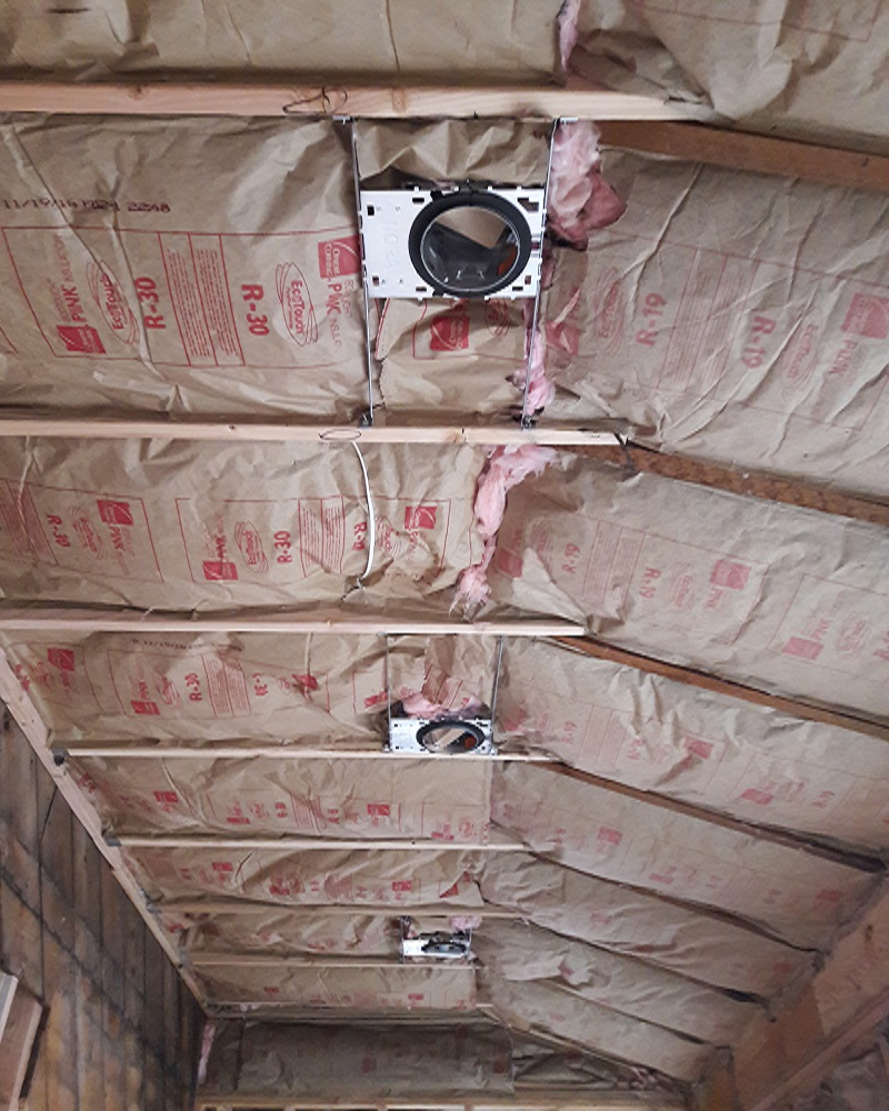 Ceiling Insulation by Gikas Painting & Contracting