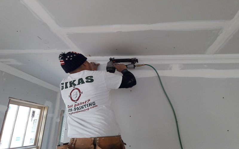 Molding installation in Montclair NJ by Gikas Painting!